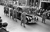 1963-02/02 Cardinal D'Alton Funeral, O'Connell Street. Dublin, Ireland.