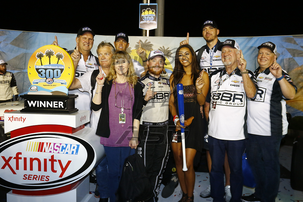 September 23, 2017 - Sparta, Kentucky, USA: Tyler Reddick (42) wins the VisitMyrtleBeach.com 300 at Kentucky Speedway in Sparta, Kentucky.