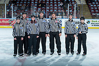 KELOWNA, CANADA - FEBRUARY 17:  Linesmen and women on February 17, 2018 at Prospera Place in Kelowna, British Columbia, Canada.  (Photo by Marissa Baecker/Shoot the Breeze)  *** Local Caption ***