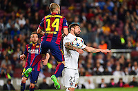 Ezequiel LAVEZZI / Javier MASCHERANO - 21.04.2015 - Barcelone / Paris Saint Germain - 1/4Finale Retour Champions League<br />