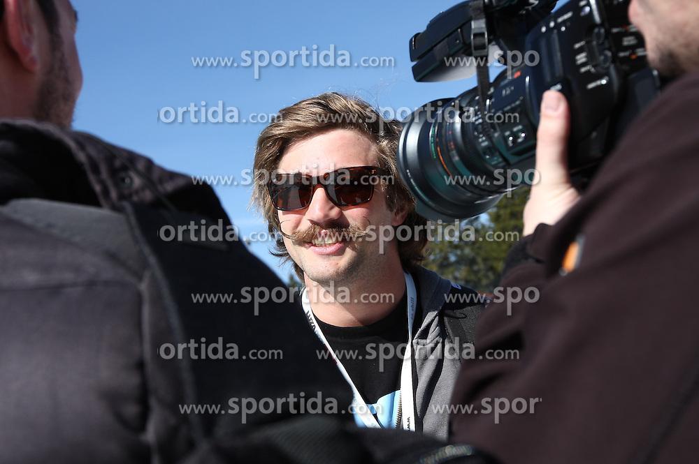 Filip Flisar during interview, winner of crystal globe 2012 in ski cross at Luza Petrol 007 on ski resort RTC Krvavec, 31.3.2012, Cerklje na Gorenjskem, ski resort RTC Krvavec, Slovenia