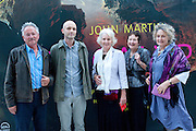 DESCENDANTS OF JOHN MARTIN: COLIN SIMPSON; MILO BRAGG; JANET SIMPSON; BARBARA MORDEN; ANNE SIMPSON,  John Martin: Apocalypse. Tate Britain. Millbank. London. 19 September 2011.<br /> <br />  , -DO NOT ARCHIVE-© Copyright Photograph by Dafydd Jones. 248 Clapham Rd. London SW9 0PZ. Tel 0207 820 0771. www.dafjones.com.