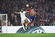 Defender Adil Rami of Olympique de Marseille and Forward Diego Costa of Atletico de Madrid during the UEFA Europa League, Final football match between Olympique de Marseille and Atletico de Madrid on May 16, 2018 at Groupama Stadium in Decines-Charpieu near Lyon, France - Photo Jean-Marie Hervio / ProSportsImages / DPPI