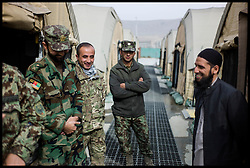Imam Asim Hafiz meets Afghan National Army Troops on a visit to  Camp Qargha in Kabul, 19th January 2014 . Picture by Andrew Parsons / Parsons Media Ltd