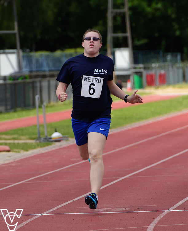 Metro Blind Sport's 2017 Athletics Open held at Mile End Stadium.  200m Senior Men - Final.  Matthew Boulding<br /> <br /> Picture: Chris Vaughan Photography for Metro Blind Sport<br /> Date: June 17, 2017