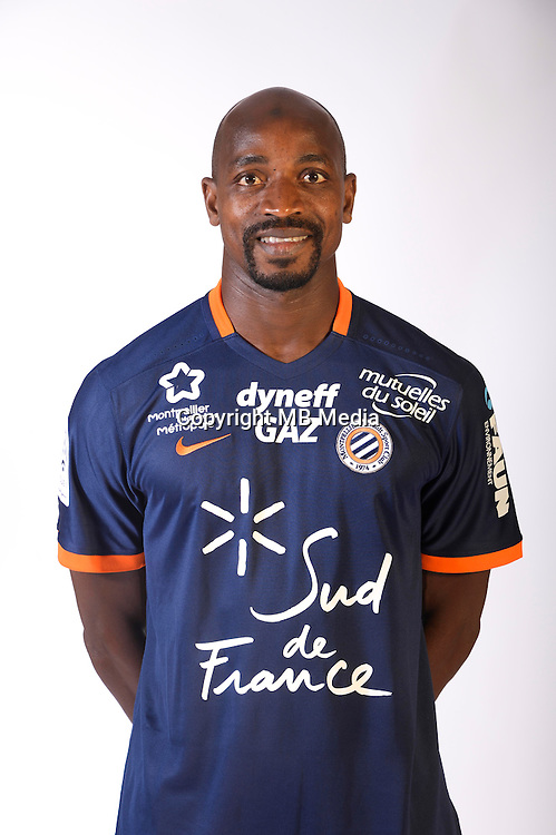 Souleymane Camara during the photocall of Montpellier for new season of Ligue 1 on September 27th 2016 in Montpellier<br /> Photo : Mhsc / Icon Sport