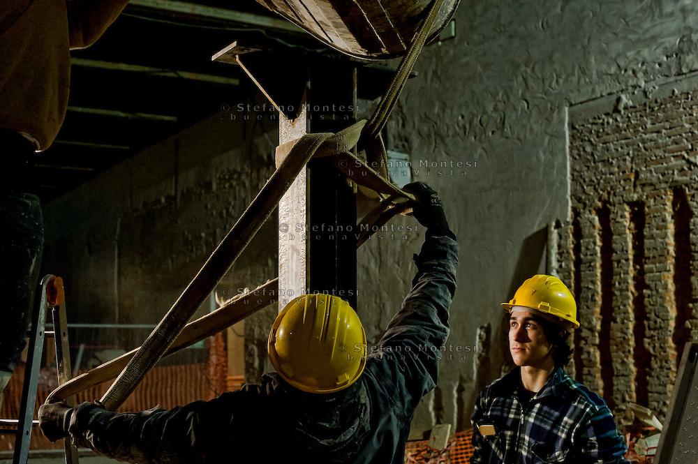 Roma 11  Febbraio 2014<br /> Lavori di ristrutturazione all' Ostello Caritas &quot;Don Luigi Di Liegro&quot; di via Marsala, a Roma