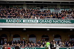 LIVERPOOL, ENGLAND - Thursday, April 6, 2017: Race goers, during The Opening Day on Day One of the Aintree Grand National Festival 2017 at Aintree Racecourse. (Pic by David Rawcliffe/Propaganda)