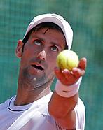 Novak Djokovic Open Training - 02 May 2017