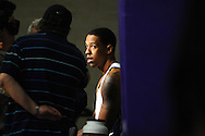 Dec. 10 2011; Phoenix, AZ, USA; Phoenix Suns center Channing Frye (8) answers questions during training camp at Grand Canyon University. Mandatory Credit: Jennifer Stewart-US PRESSWIRE.