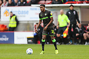 Forest Green Rovers Reece Brown(10) on the ball during the EFL Sky Bet League 2 match between Crawley Town and Forest Green Rovers at The People's Pension Stadium, Crawley, England on 6 April 2019.