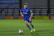 AFC Wimbledon midfielder Max Sanders (23) dribbling during the Leasing.com EFL Trophy match between AFC Wimbledon and Leyton Orient at the Cherry Red Records Stadium, Kingston, England on 8 October 2019.