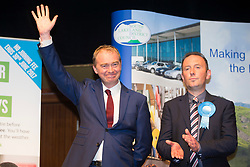 © Licensed to London News Pictures. 08/06/2017. Kendal UK. Tim Farron has held on to his constituency seat of Westmorland & Lonsdale. Photo credit: Andrew McCaren/LNP