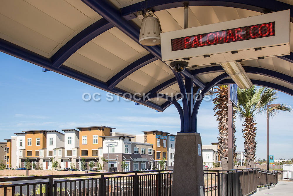 Palomar College Train Station in San Marcos California
