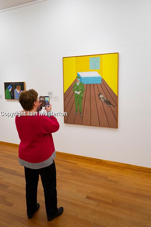 Painting Victory Boogie Woogie by PIET MONDRIAAN at the Gemeentemuseum in The Hague, Den Haag, The Netherlands