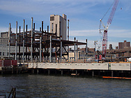 Construction of the new pier 17 at South Street Seaport.