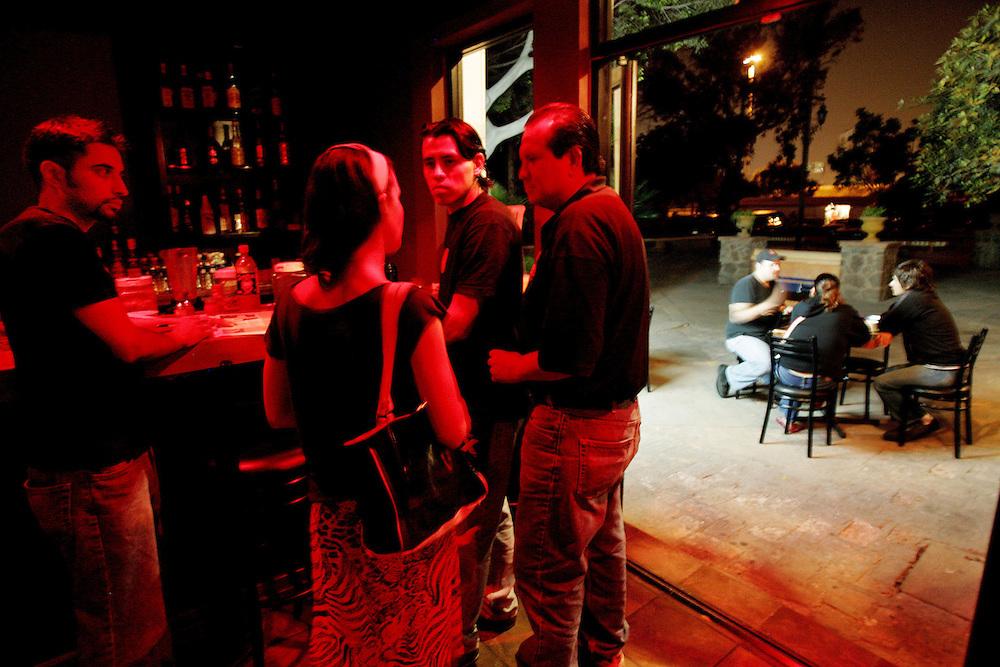 TIJUANA, MEXICO:  Patrons socialize at the Mofo Bar in Tijuana