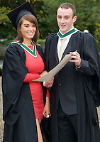 Ruth Burke and Martin Conneelly from Connemara who got their Honors Bachelor of Arts Degree from NUI,Galway. Photo:Andrew Downes.