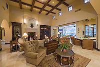 Lavish living room of luxury mansion