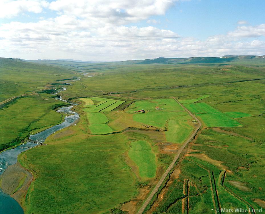 Hróaldsstaðir, Selá  séð til vesturs, Vopnafjarðarhreppur / Hroaldsstadir and Sela river viewing west, Vopnafjardarhreppur.