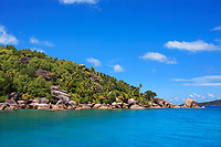 granite rocks of praslin island inseychelles indian ocean