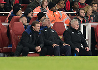 Football - 2017 / 2018 Premier League - Arsenal vs. Everton<br /> <br /> Everton's poor performance looked to have sent Sam Allardyce, Manager of Everton FC, asleep during the second half <br /> at The Emirates.<br /> <br /> COLORSPORT/DANIEL BEARHAM