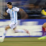 Ángel Di María, Argentina, in action during the Argentina Vs Ecuador International friendly football match at MetLife Stadium, New Jersey. USA. 15th November 2013. Photo Tim Clayton
