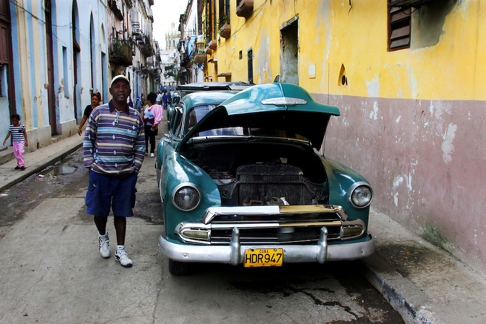 A typical scene in the back streets of Old Havana.