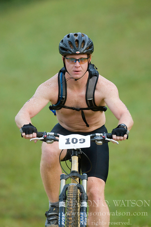 CHARLOTTESVILLE, VA - August 17, 2008 - PATRICK PEARSON (109) in the 2008 Charlottesville XTERRA Triathlon was held at Walnut Creek Park in Albemarle County near Charlottesville, Virginia, USA.