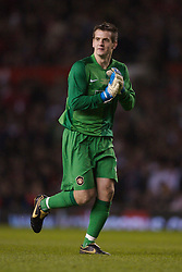 Manchester, England - Tuesday, March 13, 2007: Manchester United's Tom Heaton against a Europe XI during the UEFA Celebration Match at Old Trafford. (Pic by David Rawcliffe/Propaganda)