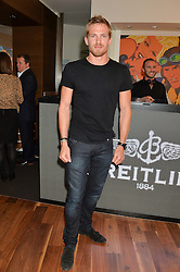 JACOBI ANSTRUTHER-GOUGH-CALTHORPE at a party to celebrate the 30th Anniversary of the Breitling Chronomat held at 130 Breitling, New Bond Street, London on 7th May 2014.