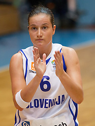 Nika Baric of Slovenia during women basketball match between National teams of Slovenia and Slovakia in 5th Round of European Championship France 2013 Qualifications, on June 26, 2012 in Arena Jezica, Ljubljana, Slovenia. (Photo by Vid Ponikvar / Sportida.com)