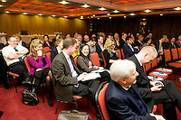 At the Ulster Bank Business Live event in the clayton Hotel Galway was a large crowd of Galway business professionals and entrepreneurs attend an event focused on international and cross-border trading – providing knowledge and guidance on new opportunities for businesses that are looking to expand their current reach for their products or services. The event, which took place on 6th February, was part of Ulster Bank's 'Business Live' series, running in association with Smallbusinesscan.com. The Ulster Bank Business Live events will run until March 5th 2012, appearing in key towns and cities in the Republic of Ireland and Northern Ireland. Further information about the Business Live events is available from Ulster Bank branches or at www.smallbusinesscan.com. Photo:Andrew Downes photography..