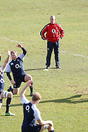 Picture by Andrew Tobin/Focus Images Ltd +44 7710 761829.08/02/2013.Stuart Lancaster, Head Coach of England looks on during a Training at Pennyhill Park, Bagshot.