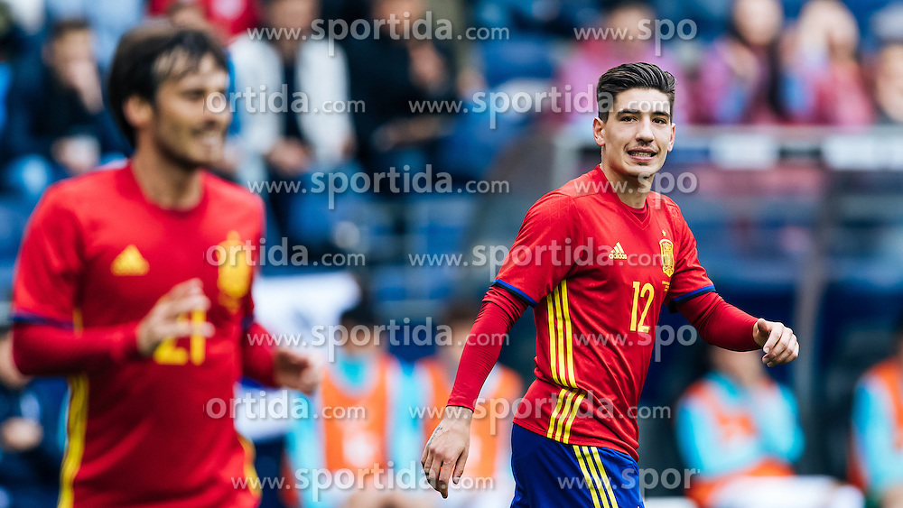 01.06.2016, Red Bull Arena, Salzburg, AUT, Testspiel, Spanien vs Suedkorea, im Bild Hector Bellerin (ESP) // Hector Bellerin of Spain during the International Friendly Match between Spain and South Korea at the Red Bull Arena in Salzburg, Austria on 2016/06/01. EXPA Pictures © 2016, PhotoCredit: EXPA/ JFK