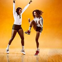 Ashleee Sandiford and Diana Lumbala celebrates after getting that big win!