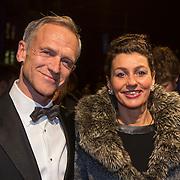 NLD/Amsterdam/20140307 - Boekenbal 2014, Jaap Jongbloed en partner Quirine Melssen