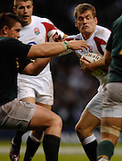 Twickenham, GREAT BRITAIN, Mark CUETO, hands off, Andre PRETORIUS, during the, Investec 2006 Rugby Challenge, England vs South Africa, at Twickenham Stadium, ENGLAND on Sat 25.11.2006. [Photo, Peter Spurrier/Intersport-images]