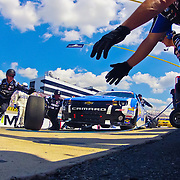 Pit crew members from Ty Dillon (33) car removes a set of tires from the race car in the course of a pit stop during the NASCAR Nationwide Series 5-HOUR ENERGY 200 auto race at Dover International Speedway in Dover, DE., Saturday,  June 01, 2013.