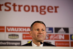 CARDIFF, WALES - Monday, January 15, 2018: New Wales national team manager Ryan Giggs during a press conference to announce his appointment at the Hensol Castle. (Pic by David Rawcliffe/Propaganda)