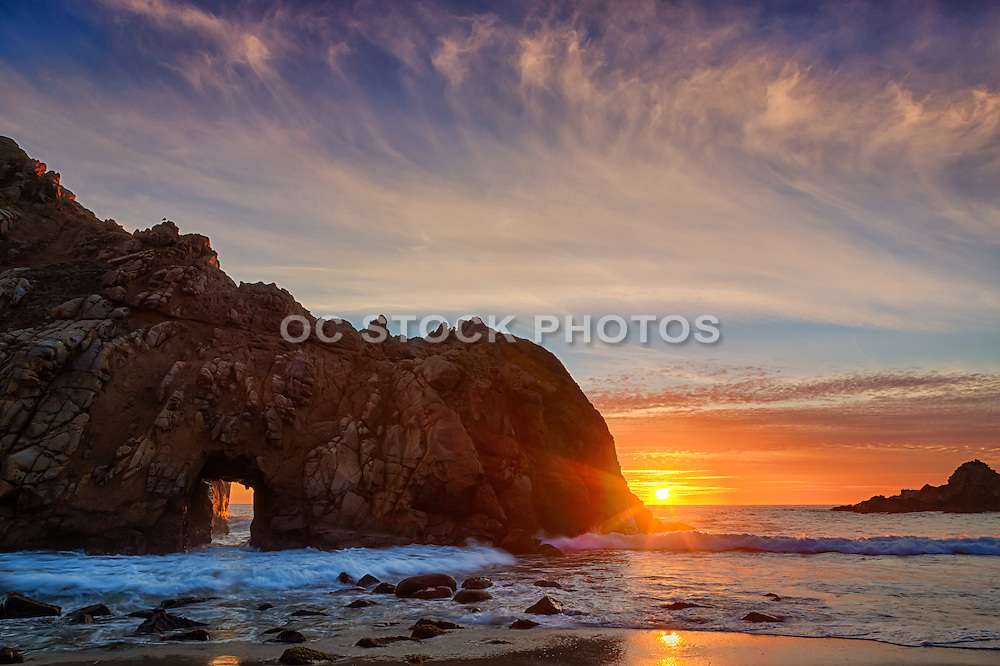 Keyhole Arch at Big Sur of California's Central Coast