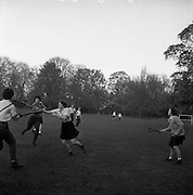 28/10/1961<br /> 10/28/1961<br /> 28 October 1961<br /> Lacrosse (practice match) at unknown ground (Dorty Hall?), Dublin. Special for John Power and Son Ltd.