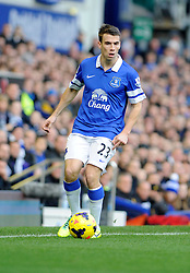 Everton's Seamus Coleman - Photo mandatory by-line: Dougie Allward/JMP - Tel: Mobile: 07966 386802 23/11/2013 - SPORT - Football - Liverpool - Merseyside derby - Goodison Park - Everton v Liverpool - Barclays Premier League
