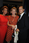 ANNE HICKS; ROSEMARY ASKEW; GEORGE ASKEW, The Gentleman's Journal Autumn Party, in partnership with Gieves and Hawkes- No. 1 Savile Row London. 3 October 2013