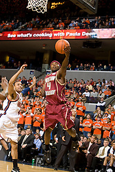 Boston College guard Tyrese Rice (4) in action against Virginia.  The Virginia Cavaliers men's basketball team defeated the Boston College Golden Eagles 84-66 at the John Paul Jones Arena in Charlottesville, VA on January 19, 2008.