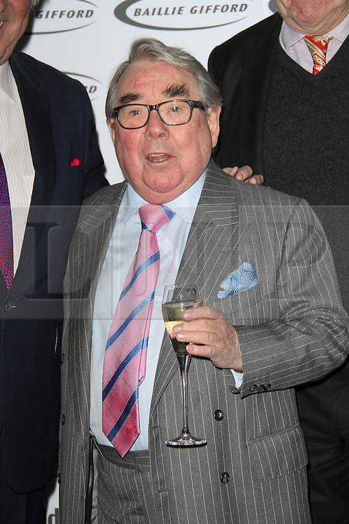 ** FILE PICTURE of Ronnie Corbett, who has died at the age of 85** <br /> © London News Pictures. Ronnie Corbett, The Oldie of the Year Awards, Simpsons in the Strand London UK, 12 February 2013. Photo by Richard Goldschmidt/LNP