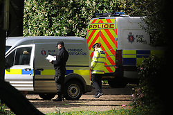 © Licensed to London News Pictures. 08/04/2014<br /> Forensic investigation team arriving just after 11am this morning  (08.04.2014)<br /> Peaches Geldof Death.<br /> Police outside the home of Peaches Geldof this morning (08.04.2014) after she died yesterday at the age of 25 years.<br /> Photo credit :Grant Falvey/LNP