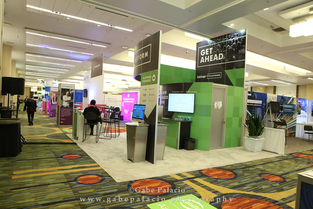 Expo Hall at LendIt USA 2016 conference in San Francisco, California, USA on April 10, 2016. (photo by Evans Vestal Ward)