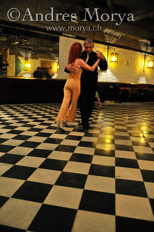 Tango Dancers in the Milonga El Correo, Buenos Aires, Argentina Image by Andres Morya