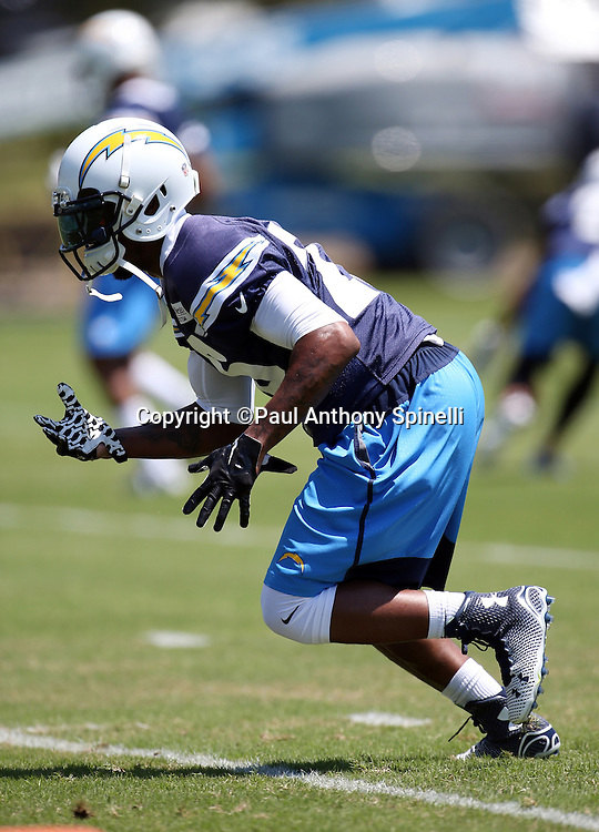 San Diego Chargers cornerback Patrick Robinson (26) chases the action during the San Diego Chargers Spring 2015 NFL minicamp practice held on Tuesday, June 16, 2015 in San Diego. (©Paul Anthony Spinelli)